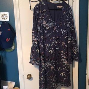 LOFT purple floral dress